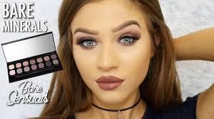 bare minerals bare sensuals eyeshadow palette makeup tutorial mauve smokey eyes