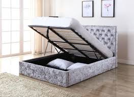 new trend furniture. The Yasmin Storage Bed Is A Wholesome In New Trend Of Crushed Velvet, Finished Silver With Fabric Base Furniture
