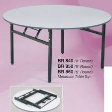 5 feet round foldable banquet table with thick table top l1524mm x h750mm