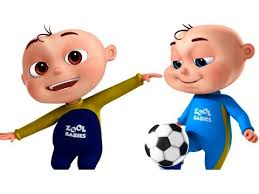 playing cartoon five little babies playing soccer football videogyan 3d rhymes