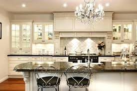 kitchen crystal chandelier home stunning wooden cabinet and wall combined with exotics hang island chandeliers eli