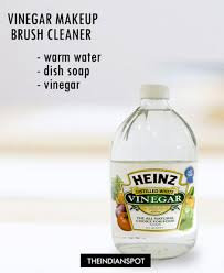 2vinegar makeup brush cleaner