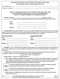 Durable Power Of Attorney Form Amazing Free Medical Power Of Attorney Form Template Standard Ontario