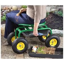 garden cart with seat. Beautiful With Amazoncom CASTLECREEK Rolling Garden Seat With Builtin Tray Home U0026  Kitchen On Cart With