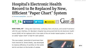 Electronic Patient Chart The Role Of Design In Electronic Health Records Past
