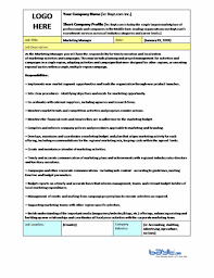 Marketing Manager Job Description Template Job Description Magnificent Job Description Template Word