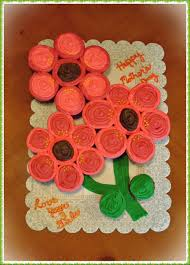 Mothers Day Flower Cupcake Cake Cakecentralcom