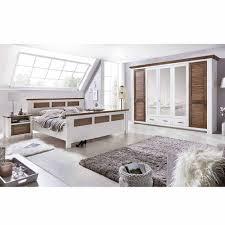 Schlafzimmer Einrichtung Trevora In Weiß Kiefer Pharao24de