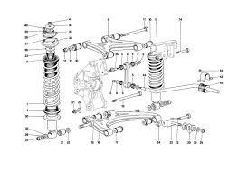 Ferrari testarossa 1990 rear suspension wishbones and shock tr 90 052 rear suspension wishbones