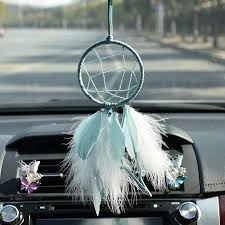 Dream Catcher For Car Mirror Adorable Teal Dream Catcher Car Mirror Charm Ornaments Rearview Mirror