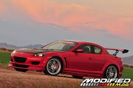 mazda rx8 modified red. modp 0901 11 2006 mazda rx8 base 6mt body kit modified red