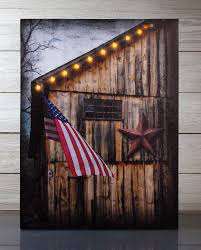radiance lighted canvas americana barn and flag with timer 12157 on americana canvas wall art with radiance lighted canvas americana barn and flag with timer shelley
