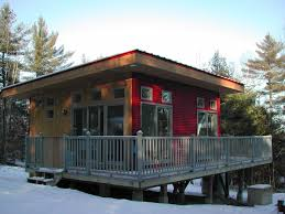 Small Picture Natural Nice Design Of The Modern Cabin Design That Has Red And