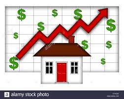 Real Estate Home Values Chart Real Estate Home Values Going Up Chart Stock Photo 35072770