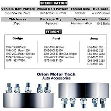 2003 Dodge Ram 1500 Bolt Pattern
