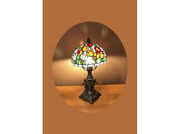 Decorative Collectible Tulip 2 Pattern Tree Nightlight Tiffany Lamp