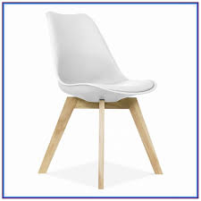 white plastic chairs with wooden legs
