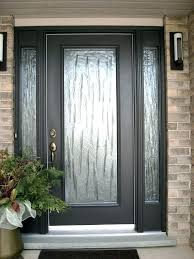 full glass front doors entry door with blinds all leaded sidelights