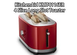 review on kitchenaid kmt4116er 4 slice long slot toaster with high lift lever empire red