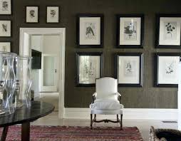 blue seagrass wallpaper foyer decorated with and framed wall pictures  grasscloth uk