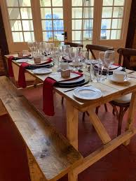 rustic trestle table for hire