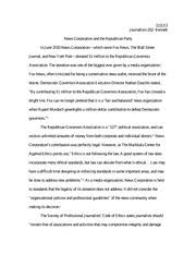 journalism intro to st century media northwestern  4 pages ethics newscorp essay