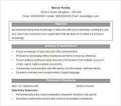 Data Entry Officer Sample Resume Unique 44 Resume Objectives PDF DOC Free Premium Templates