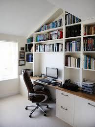 home office bookshelf. White Bespoke Fitted Home Office Bookshelf
