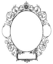 mirror frame outline. Mirror Clipart Old Fashioned #15 Frame Outline T