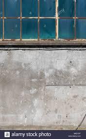 Alten Industriegebäude Metall Frame Fenster Und Beton Wand Hafen