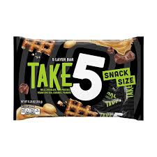 amazon take5 snack size bars 11 25 ounce bag pack of 6 chocolate bars grocery gourmet food