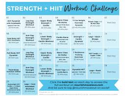 Design Your Own Workout Plan 30 Day Advanced Strength Hiit Workout Plan Nourish Move Love