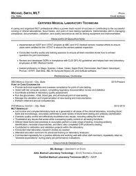 Dental Technician Cv Certified Medical Laboratory Technician Resume