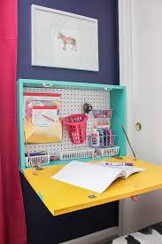 diy wall mounted desk easy build drop