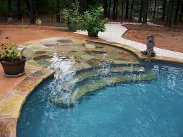 Custom Inground Pool Designs Flagstone Beach Entry With Steps Intended Perfect Ideas