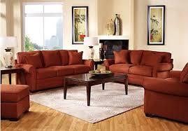 Captivating Orange Living Room Furniture and Burnt Orange Living