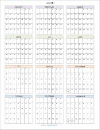 Printable School Year Calendars Free Printable 2018 Year At A Glance Calendar Calendar