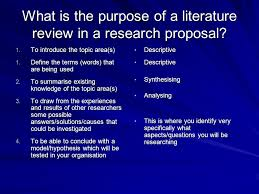 The review of the literature  Session outline Purpose of a      good scientific literature review topics