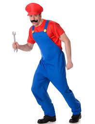 Red Plumber Costume For Men