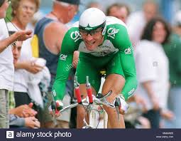 Cycling: Futuroscope, France , 1.7.2000 Tour de France Prologue Time Trial  ---- Anthony LANGELLA, FRA, Credit Agricole Stock Photo - Alamy