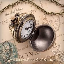 vintage ball pocket watch pendant necklace vintage bronze finish 02 jpg