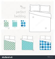 bed drawing top view double bed top view89 top