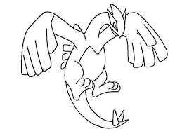 Legendary Pokemon Coloring Pages Lugia Coloringstar