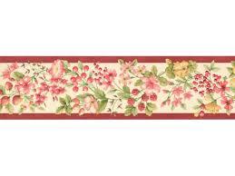 Flower Wall Paper Border Fruits And Flower Wallpaper Border Kt77904