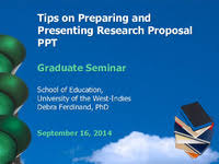 Tips On Preparing And Presenting Research Proposal Ppt Graduate