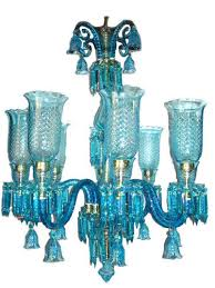 traditional vicc146 8 arm blue glass chandelier