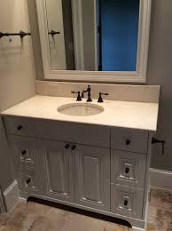 home honed crema marfil vanity oval sink