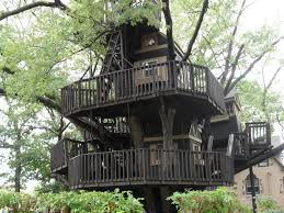 Exterior:Unique Diy Treehouse Design With Classic Hip Roof And Timber Walls  Fabulous Black Diy