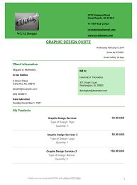 Services Quotation Template Graphic Design Quote Template Pdf Templates Jotform