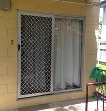 clear anodised sliding barrier door